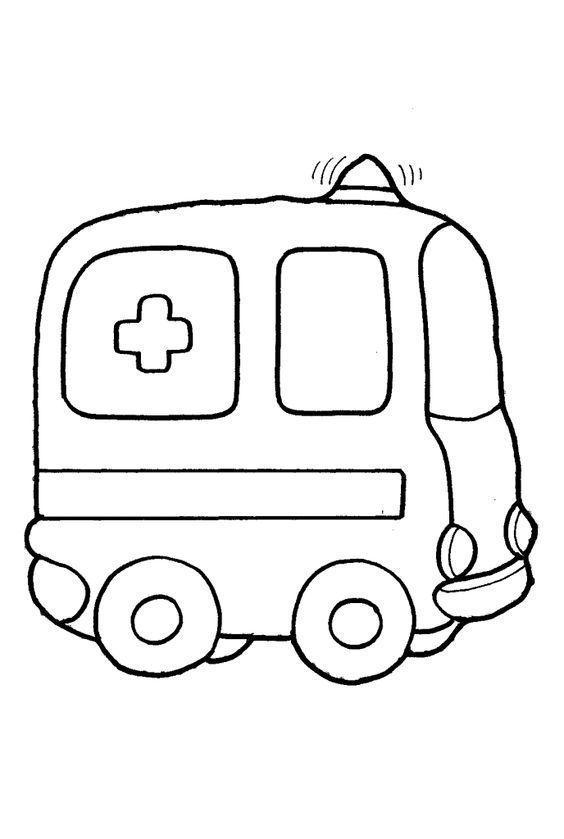 ambulancia para colorear