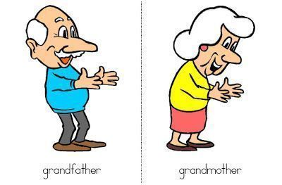 ingles-grandfather and grandmother