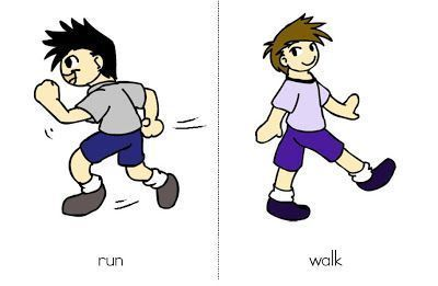 ingles-run and walk