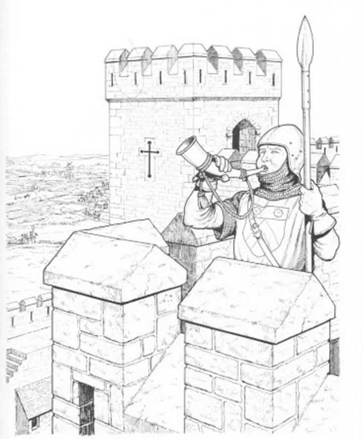 dibujos de castillos y sus personajes