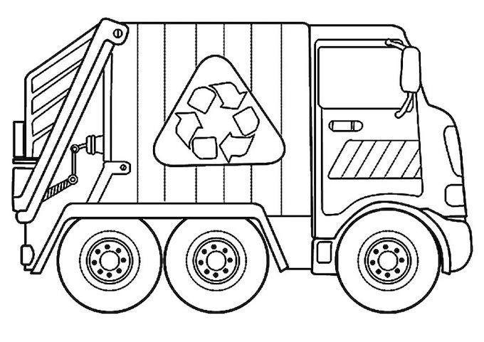 Dibujos Camion De Basura Para Pintar Y Colorear