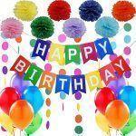 set cumpleaños multicolor